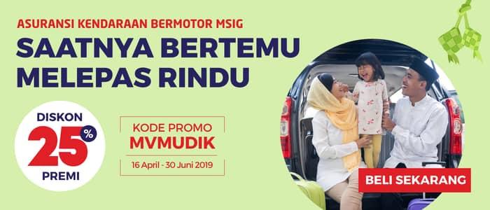promo asuransi kendaraan bermotor msig 2019 mudik