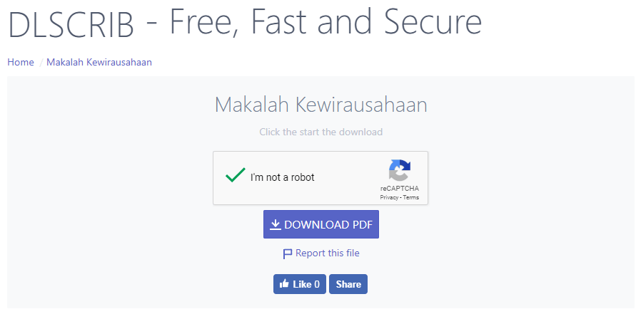 cek spam file scribd
