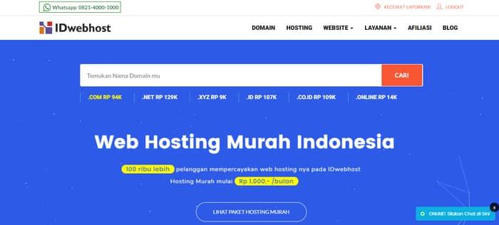 hosting indonesia idwebhost