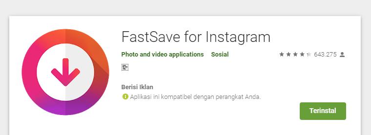 cara menyimpan video dari Instagram ke galeri HP dengan fastsave