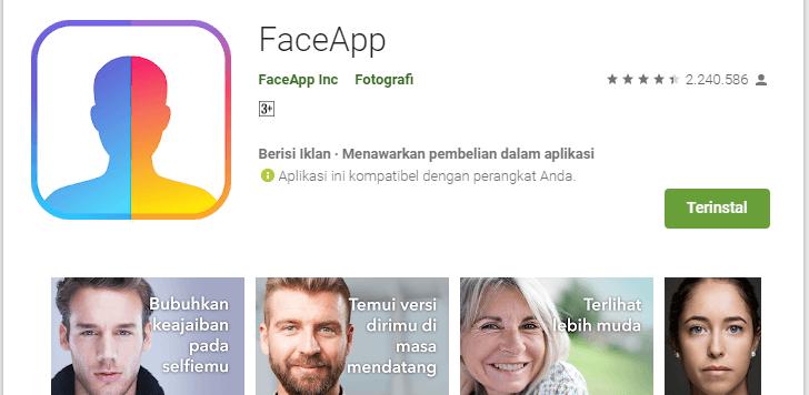 faceapp aplikasi