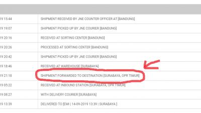 Arti Shipment forwarded to destination
