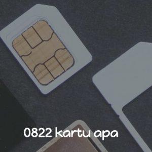 0822 kartu apa
